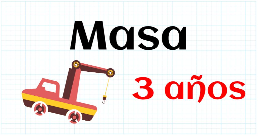 MASA - EDUCACION INFANTIL 3 AÑOS