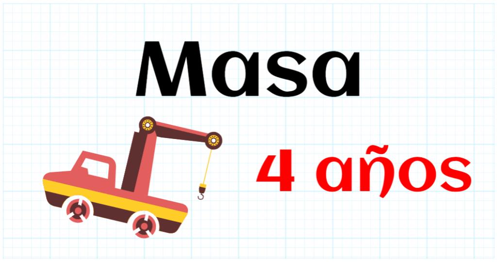 MASA - EDUCACION INFANTIL 4 AÑOS