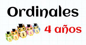 ORDINALES - EDUCACION INFANTIL 4 AÑOS