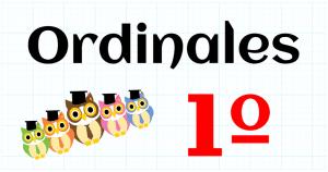 ORDINALES - EDUCACION PRIMARIA 1º