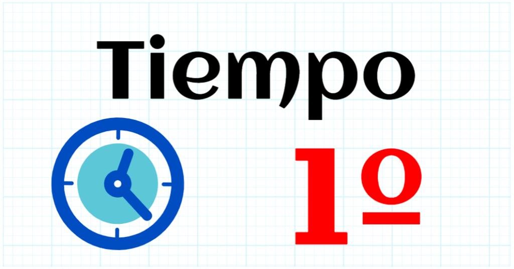 TIEMPO - EDUCACION PRIMARIA 1º