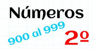 EDUCACION PRIMARIA 2º - 900 AL 999