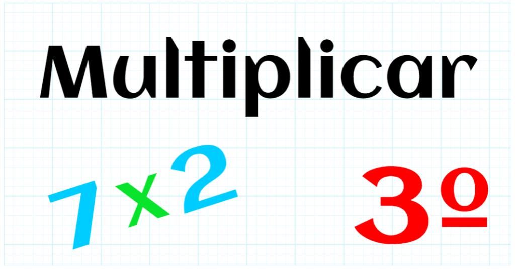 EDUCACION PRIMARIA 3º - MULTIPLICAR