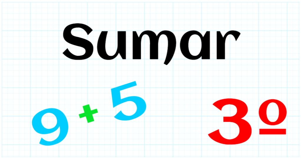 EDUCACION PRIMARIA 3º - SUMAR