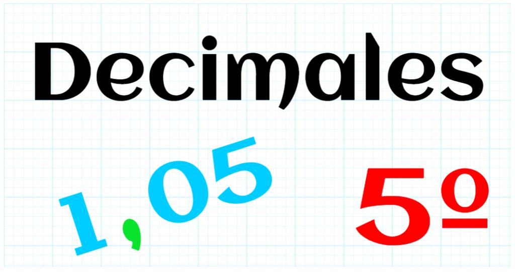 EDUCACION PRIMARIA 5º - DECIMALES