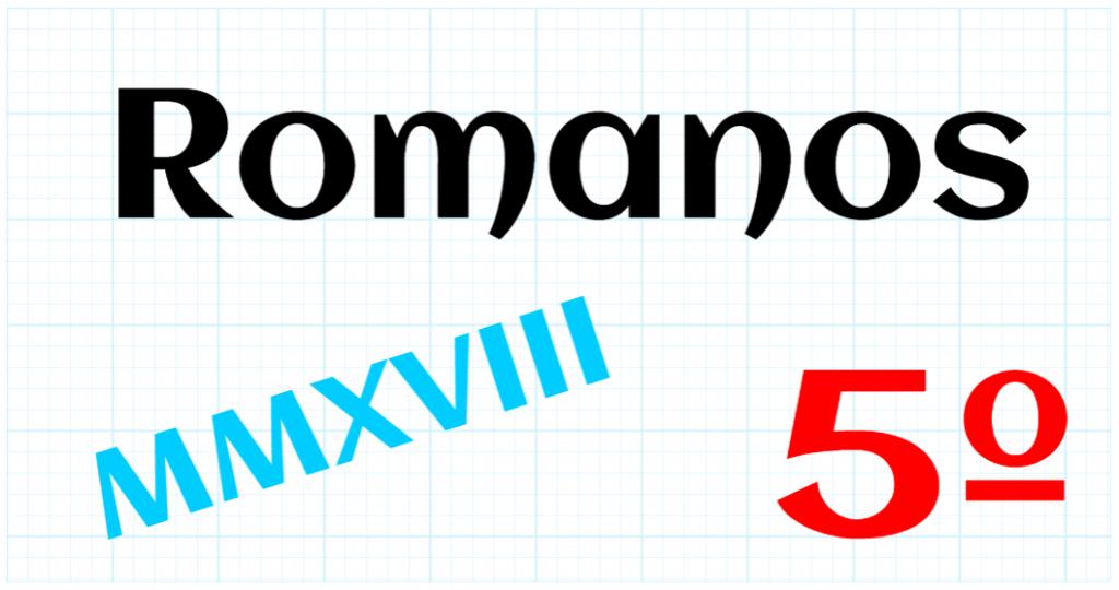 EDUCACION PRIMARIA 5º - ROMANOS