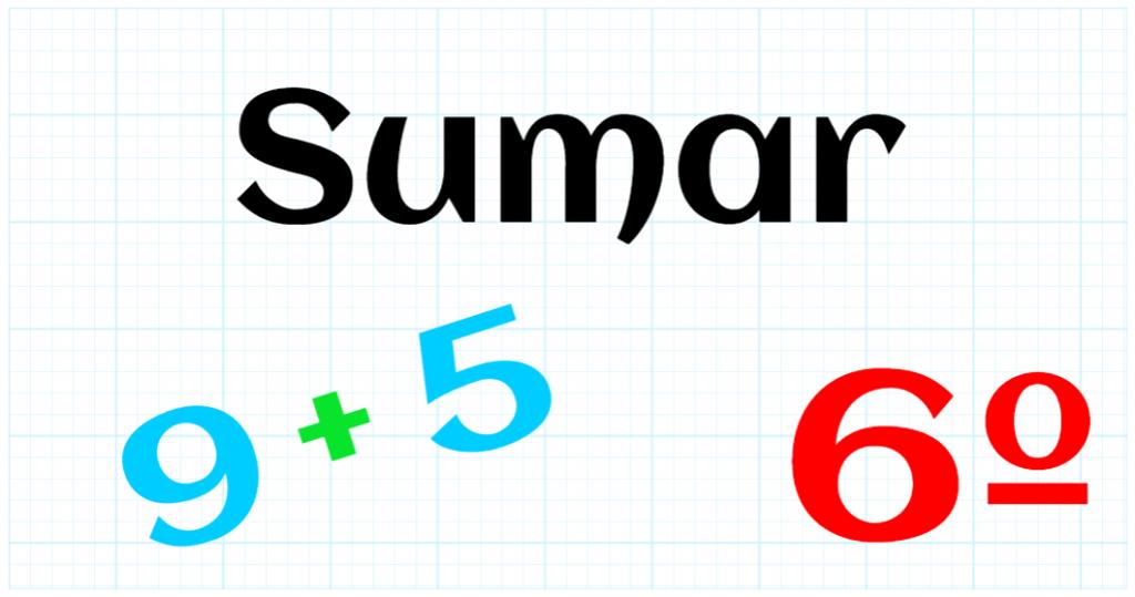 EDUCACION PRIMARIA 6º - SUMAR