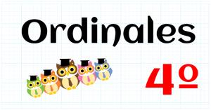 ORDINALES - PRIMARIA 4º