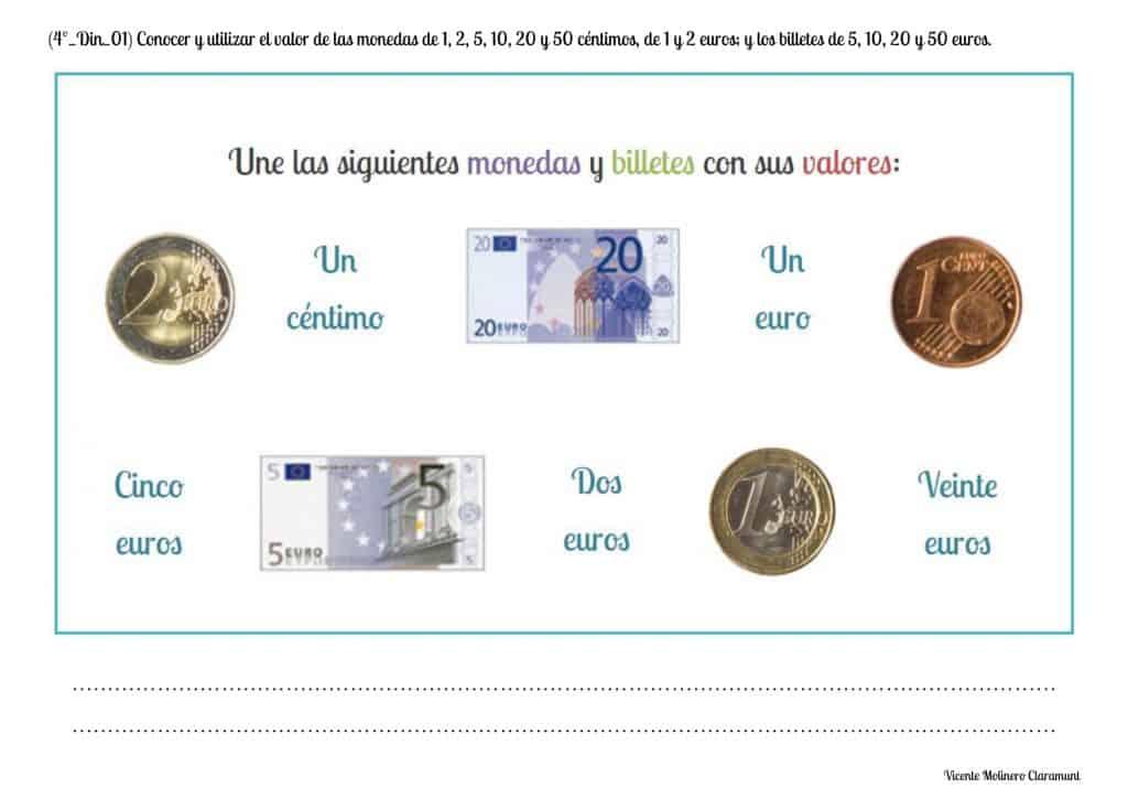 Sistema Monetario Cuarto Educación Primaria 9 Años