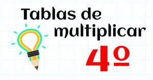 tablas multiplicar 4º