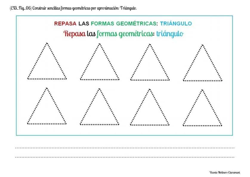 dibujar triangulo