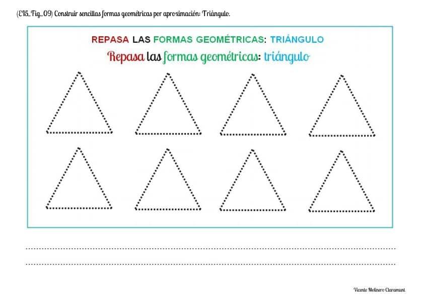 triangulo punteado para repasar