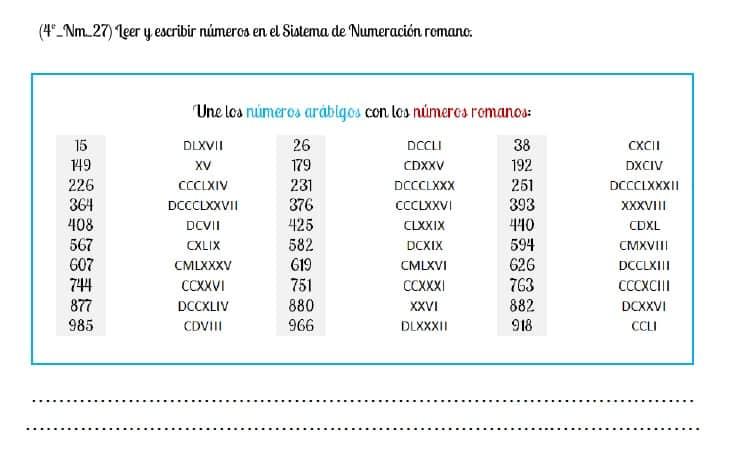 numeros romanos del 1 al 1000