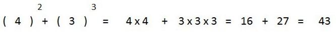 ejemplo suma potencias distinta base distinto exponente