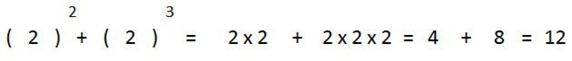 ejemplo suma potencias igual base distinto exponente