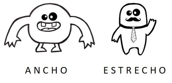 EXPLICACION CONCEPTOS ANCHO Y ESTRECHO