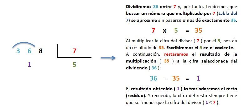 dividir paso a paso division 3 cifras entre 1