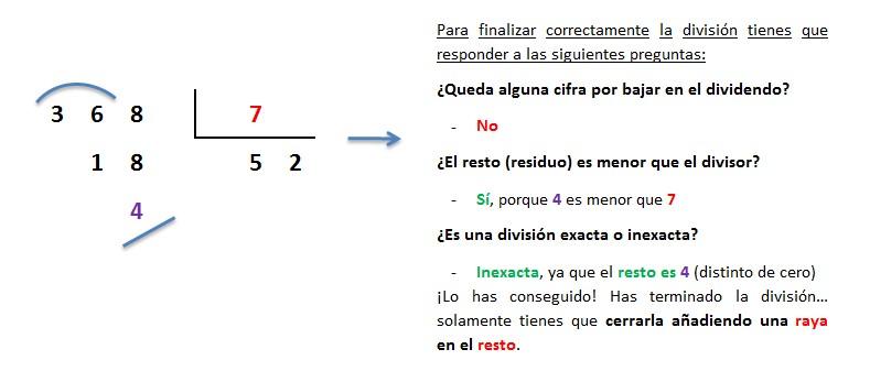 division 3 cifras entre 1 cifra inexacta paso a paso 4