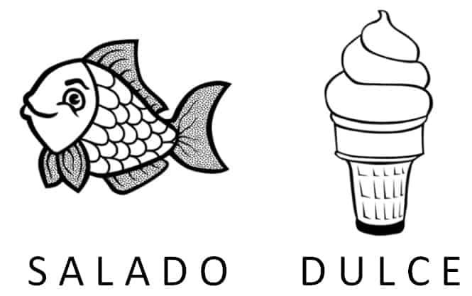 explicacion concepto dulce y salado