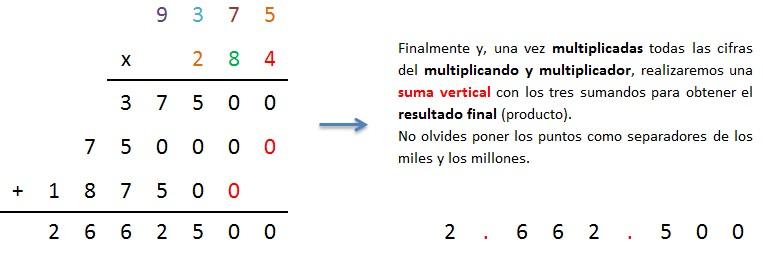 explicacion paso a paso multiplicacion 4 cifras por 3 cifras llevando 4