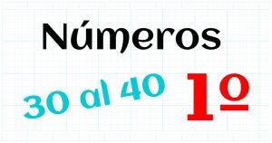 los numeros naturales del 30 al 40
