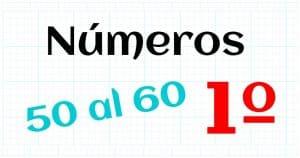 los numeros naturales del 50 al 60