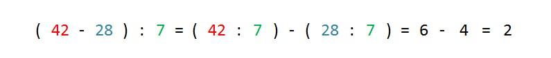 ejemplo y solucion propiedad distributiva division respecto resta