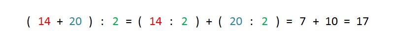 ejemplo y solucion propiedad distributiva division respecto suma
