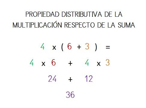 explicacion propiedad distributiva multiplicacion suma