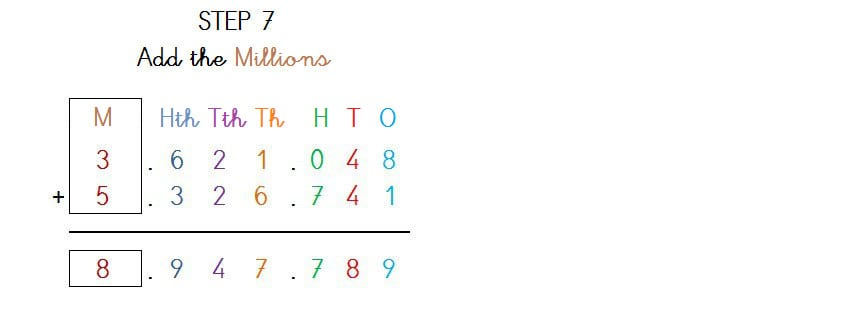 SOLVE ADDITION 7 DIGITS NO CARRYING - 4
