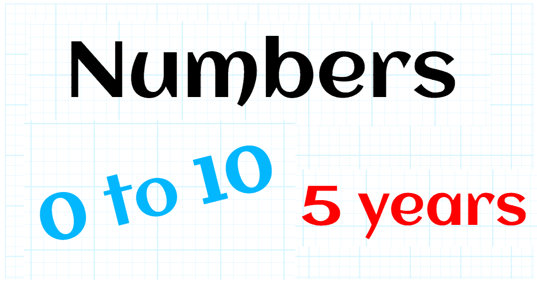 NATURAL NUMBERS UP TO 10 - KINDERGARTEN 5 YEARS