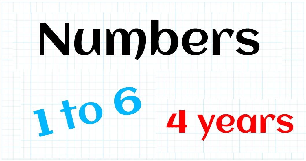 NATURAL NUMBERS UP TO 6 - PREKINDERGARTEN 4 YEARS