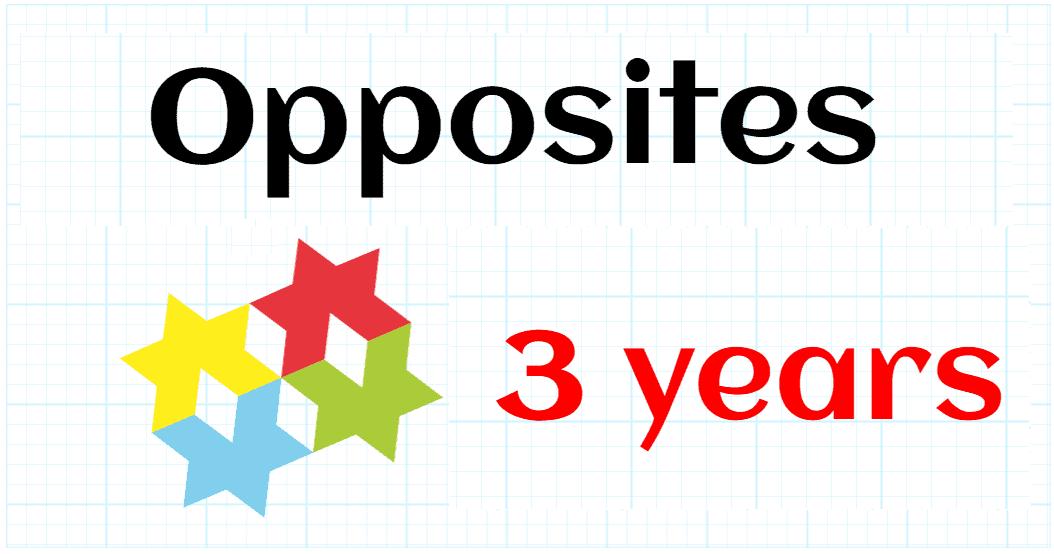 OPPOSITE CONCEPTS -PREKINDERGARTEN 3 YEARS