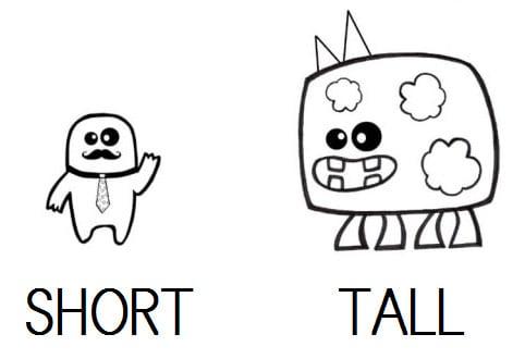 TALL - SHORT