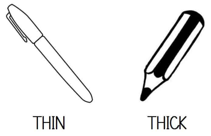 THIN - THICK