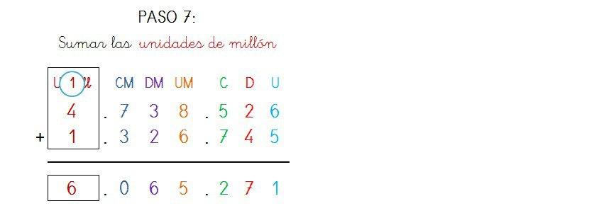suma y solucion 7 cifras llevando - 4
