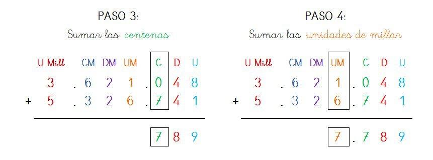 suma y solucion 7 cifras sin llevar - 2
