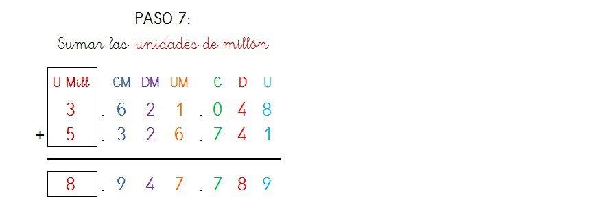 suma y solucion 7 cifras sin llevar - 4