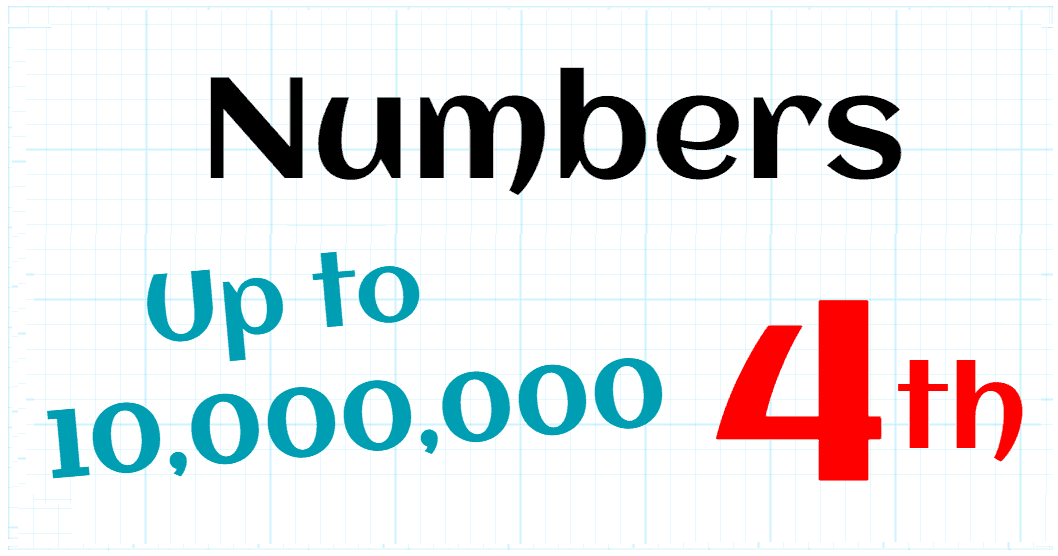 NUMBERS UP TO 10000000 - 4TH GRADE